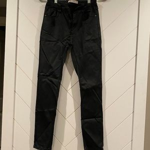 High Rise Faux Leather Skinny In Black